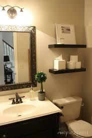 Tiny Powder Room Ideas Unique Brown Wooden Cabinet White Ceramic Toilet Small Powder Room
