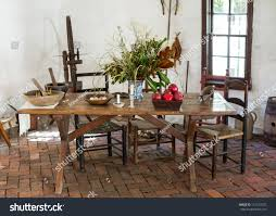 Colonial Dining Room Chairs Old Fashioned Colonial Kitchen Table Chairs Stock Photo 115126072