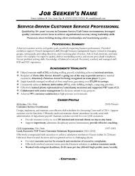 Examples Of A Customer Service Representative Resume Top Pick For     happytom co