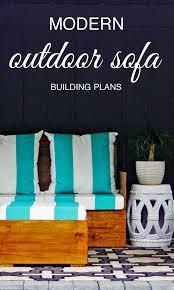 Modern Outdoor Sofa by Diy Modern Outdoor Sofa Free Building Plans