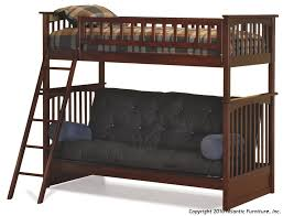 Twin Over Futon Bunk Bed Plans by Atlantic Furniture Columbia Twin Over Futon Bunk Bed
