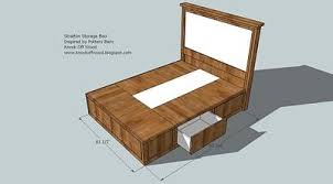 Plans For Wooden Platform Bed by Diy Queen Size Storage Bed Includes Cutting Plans U0026 Directions