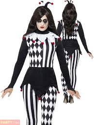 smiffys womens halloween female jester ladies fancy dress party