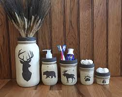 Moose Bathroom Accessories by Bathroom Set Etsy