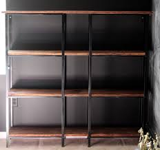 ikea hack rustic industrial bookcase metal shelves shelves and