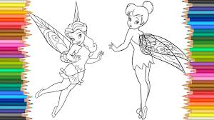 disney fairies coloring pages l tinkerbell rosetta coloring book l
