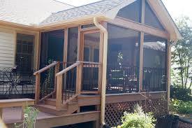 screened porch addition solid construction