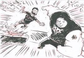 brock lesnar attacks cm punk on raw sketch nightmare pro wrestling