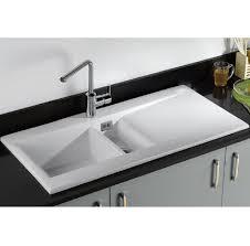 Dream  Bowl White Ceramic Kitchen Sink - Ceramic white kitchen sink