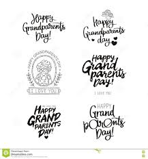 grandparents day black and white clipart collection