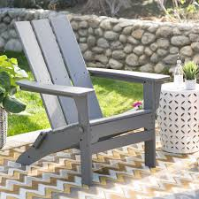 Modern Outdoor Chairs Plastic Polywood Modern Folding Adirondack Chair Hayneedle