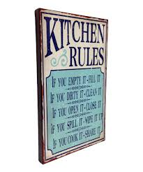 take a look at this wilco u0027kitchen rules u0027 wall art today signs