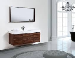 Modern Walnut Bathroom Vanity by Bliss 60