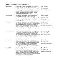 Sample Babysitter Resume by Resume Babysitting Resume Examples