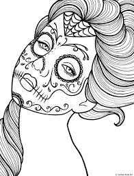 free printable day of the dead coloring book page by