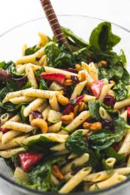 Pasta Salad Ingredients Strawberry Spinach Pasta Salad With Orange Poppy Seed Dressing