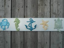 Outdoor Nautical Decor by Nautical Beach Decor Towel Rack Bathroom Towel Hooks Outdoor