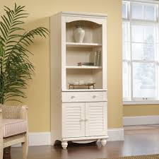 Sauder Black Bookcase by Harbor View Library Bookcase With Doors 158082 Sauder