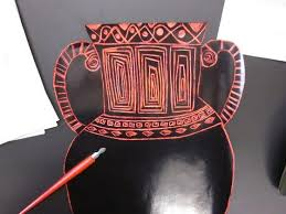 Furniture Graceful Scratch Art Greek Vases   Greek Unit   Pinterest Photo Of In Interior          Miu Borse