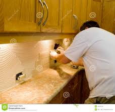 keep this how to drawing handy as a reference when installing a ceramic tile installation on kitchen backsplash 12 stock photography