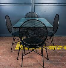 Mesh Patio Chair Wrought Iron Mesh Patio Set Designed By Maurizio Tempestini For