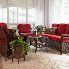 Lazy Boy Furniture Outlet La Z Boy Outdoor Scarlett 4 Piece Seating Set In Red Sears