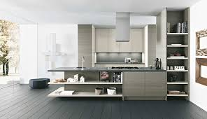 kitchen awesome white brown wood stainless modern design italian