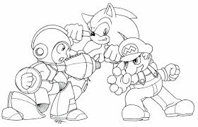 super sonic coloring pages man coloring pages