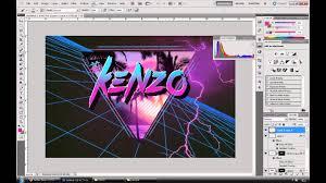 kenzo art 80 u0027s miami style photoshop speed art youtube