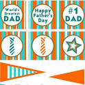 Father's Day Cupcake Toppers {Printable Fathers Day} - Tip Junkie