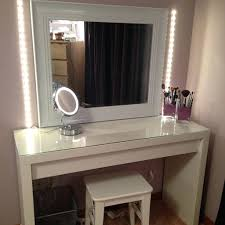 White Bedroom Desk Furniture by Bedroom White Bedroom Vanity Table With Lighted Mirror And Girly