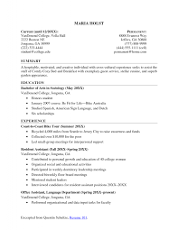Student Resume Examples First Job by College Student Resume Sample Resume Example Classy Idea College