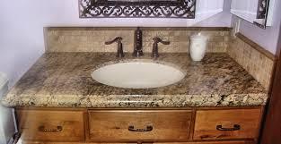Bathroom Backsplash Ideas by Granite Bathroom Countertops Beige Granite Bathroom Countertop