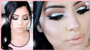 how to glitter eyes glam glitter makeup tutorial youtube