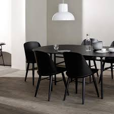 Oval Dining Room Tables Snaregade Oval Dining Table In Black Veneer Design By Menu U2013 Burke