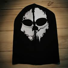 ghost half mask skull mask half face bandana ski motorcycle biker paintball
