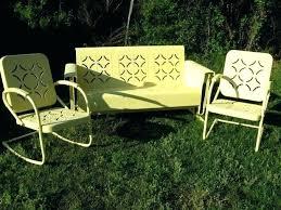 retro retro metal lawn glider retro patio glider vintage outdoor