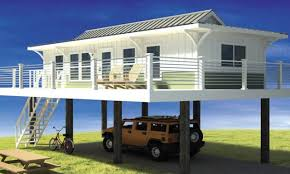 House On Pilings by Narrow Lot Beach House Plans On Pilings Frame All About House