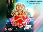 Wallpapers Backgrounds - Goddess Gayatri Maa Picture