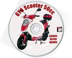 chinese scooter 50cc gy6 service repair shop manual on cd jianshen