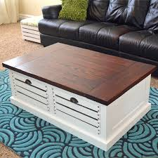 crate storage coffee table and stools her tool belt