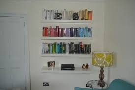 Hanging Bookshelves Ikea by Wall Mounted Dvd Storage Full Image For Collect This Ideawall
