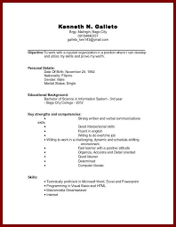 Student Resume Examples No Experience by College Resume Sample No Experience Templatez234 Free Download