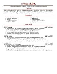 What Is Job Profile In Resume by Unforgettable Data Entry Clerk Resume Examples To Stand Out