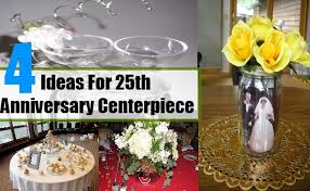Silver Centerpieces For Table Simple Ideas For 25th Anniversary Centerpiece Best Centerpiece