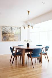 Mid Century Modern Dining Room Tables Minimalist Mid Century Modern Inspired Dining Room Decor With Blue