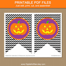 printable halloween banner digital art star printable party decor halloween printable