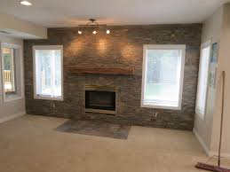 Fake Exposed Brick Wall Decorations Favorable Natural Brick And Stone Living Room Accent