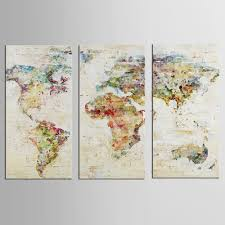 World Map Canvas by Online Buy Wholesale Colorful World Map Canvas From China Colorful