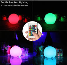 Mood Lighting Bedroom by Safe Rechargeable Rgb Dimmable 16 Mood Color Changing Led Globe